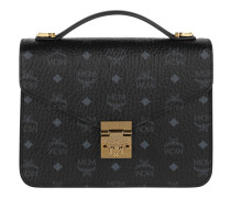 Patricia Visetos Satchel Medium Black Tasche