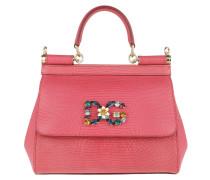 Satchel Bag Sicily Mini St. Iguana Rosa Peonia pink