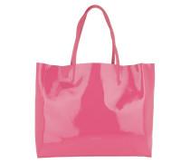 Shopper Delta Naplack Shopping Bag Glossy Pink pink