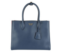 Shopping Bag City Calf Bluette/Fuoco Shopper