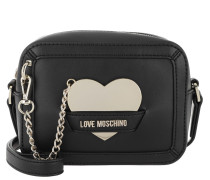 Umhängetasche Bag Heart Metall Nero