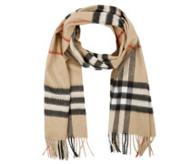 Giant Icon Cashmere Scarf Camel Check Schal