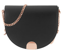 Izzyy Flip Clasp Moon Bag Black