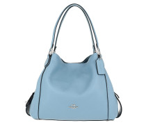 Tote Polished Pebble Leather Edie 31 Shoulder Bag Slate blau