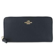 Portemonnaie Polished Leather Accordion Zip Navy blau