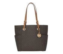 Jet Set Travel Tote Brown Tote