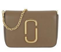 Gürteltasche Logo Strap Hip Shot Bag French Grey/Multi braun