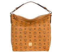 Gold Visetos Hobo Small  Hobo Bag