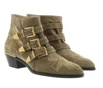 Susanna Boots Suede Dark Greige Schuhe