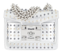 Gaia Star Studded Metal Chain Shoulder Bag Silver Tasche