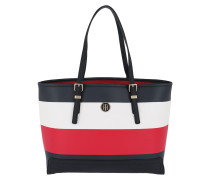 Honey Med Tote Corp Stripe Corporate Mix