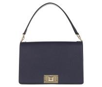 Satchel Bag Mimi' M Shoulder Blue Notte