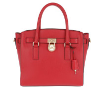 Hamilton LG EW Satchel Bag Gold / Bright Red