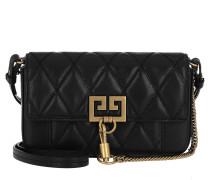 Umhängetasche Mini Pocket Bag Diamond Quilted Leather Black schwarz