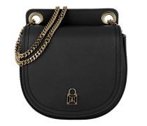 Leather Crossbody Bag1 Black Tasche