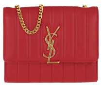 Umhängetasche Vicky Chain Wallet Quilted Lambskin Rouge Eros rot