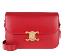 Umhängetasche Medium Triomphe Bag Shiny Calfskin Red rot