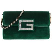 Umhängetasche Shoulder Bag With Square G Velvet Emera grün