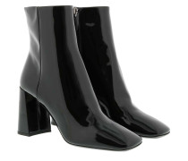 Boots Booties Patent Leather Black schwarz
