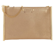 Umhängetasche Roy Mini Clutch Leather Gold gold
