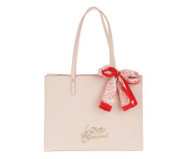 Borsa Saffiano Pu Scarf Logo Shopping Bag  Shopper