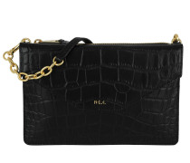 Erika Faux Croco Umhängetasche Small Black