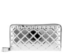 Zip Around Wallet Large Silver Portemonnaie
