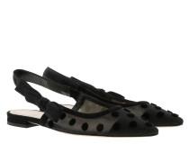 Schuhe Jadior Slingback Flat Pumps Black schwarz