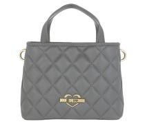 Borsa Nappa Pu Small Handle Bag Grigio
