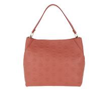 Klara Monogrammed Leather Hobo Medium Cocoa Hobo Bag