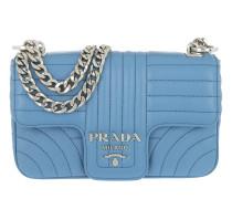 Diagramme Leather Shoulder Bag Sea Blue Tasche