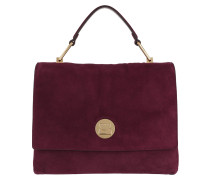 Liya Suede Crossbody Bag Grape Tasche