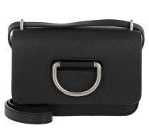 Umhängetasche The Mini D-Ring Bag Leather Black 2 schwarz