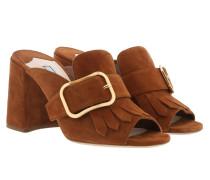 Sandals With Fringe Leather Palisandro Sandalen