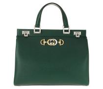 Tote Zumi Handle Bag Grainy Leather Vintage Green grün