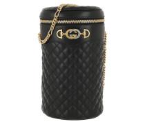 Beuteltasche Belt Bag Quilted Leather Black/Black