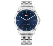 Uhr Men Quartz Watch Barclay Silver