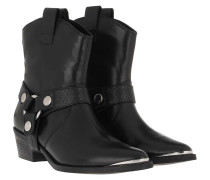 Boots Gallow Bootie Black Leather