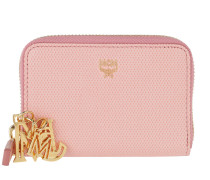 Otti Charm Zippered Card Wallet Mini Pink