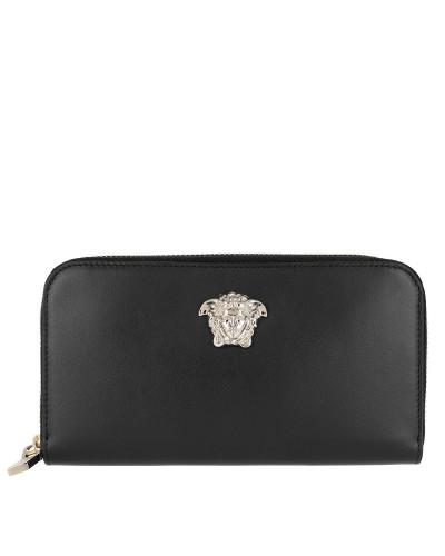 Vitello Zip Around Wallet Black/Light Gold