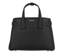 The Small Handle Bag Leather Black Satchel Bag