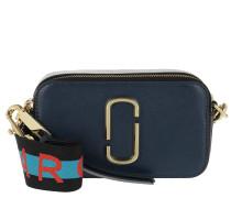 Umhängetasche Logo Strap Snapshot Small Camera Bag Leather Navy blau