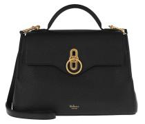 Satchel Bag Small Seaton Top Handle Leather Black