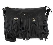 Fringed Shoulder Bag Black Hobo Bag
