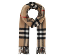 Classic Scarf Cashmere Camel Charcoal Schal