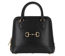 Tote Horsebit Small Top Handle Bag Black