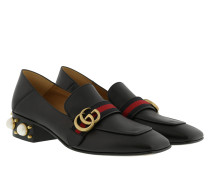 Mid-Heel Loafer Leather Black Schuhe