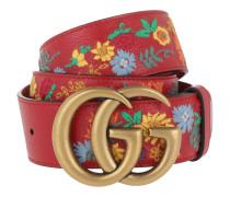 Gucci Belt 409416 CWGGT Hibiscus Red Gürtel
