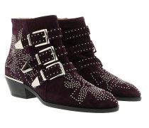 Susanna Boots Suede Dark Purple Schuhe