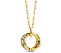 Halskette Necklace 18KT Bi Color Gold